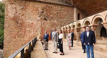 Visita de los Reyes al Monasterio de San Juan de la Peña