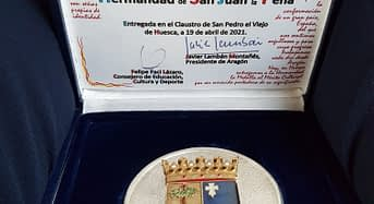 La Hermandad de San Juan de la Peña, medalla al mérito cultural de Huesca