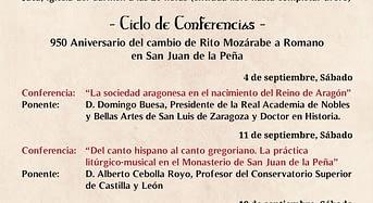 La Real Hermandad de San Juan de la Peña celebra las XIV JORNADAS DE ESTUDIO SOBRE SAN JUAN DE LA PEÑA